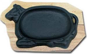 Железная тарелка с крышкой (тебан)