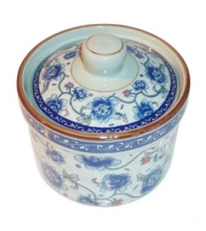 Чашка с крышкой для супа (Цвет-синий)