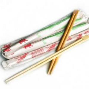 Бамбуковые палочки для еды острые 23 см.